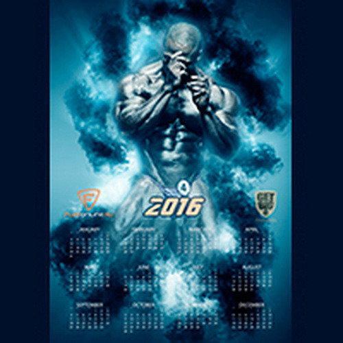 Плакат - Календарь на 2016 год (Шон Роден)