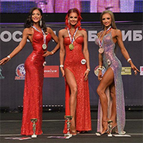 Фитмодели +166 см - раунд в платьях - Чемпионат России по бодибилдингу - 2019