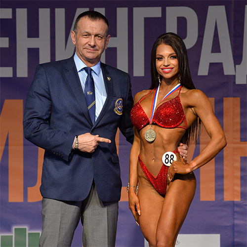 Фитнес-бикини абсолютная категория - Кубок Ленинградской области по бодибилдингу - 2021