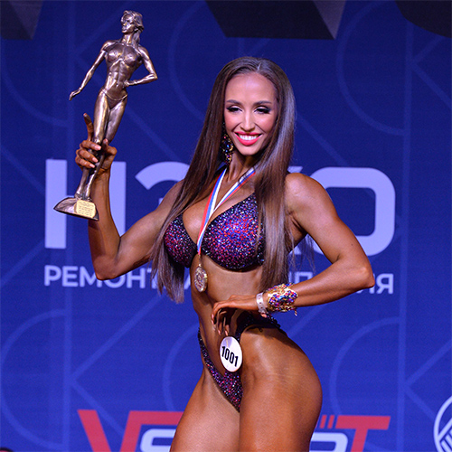 Фитнес-бикини абсолютная категория - Кубок России по бодибилдингу - 2021 (Самсон-49)