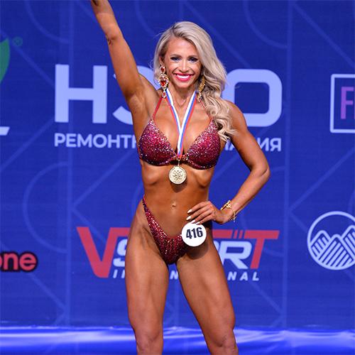 Фитнес-бикини мастера +166 см - Кубок России по бодибилдингу - 2021 (Самсон-49)