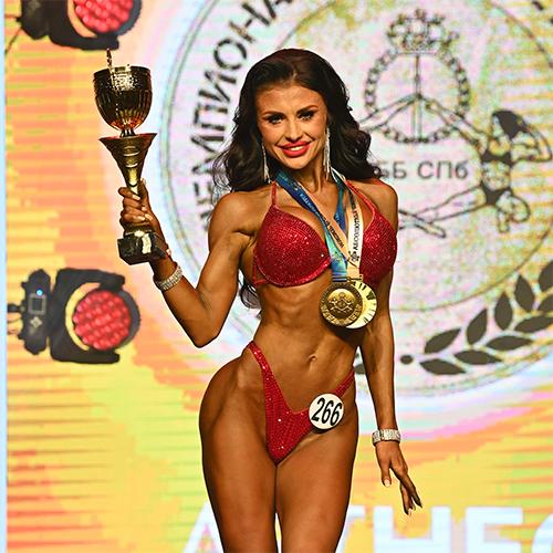 Фитнес-бикини абсолютная категория - Чемпионат Санкт-Петербурга по бодибилдингу - 2021