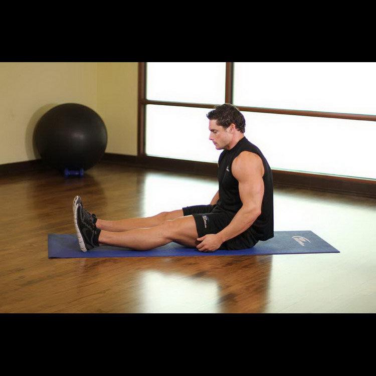 Растягивание икроножных мышц в положении сидя