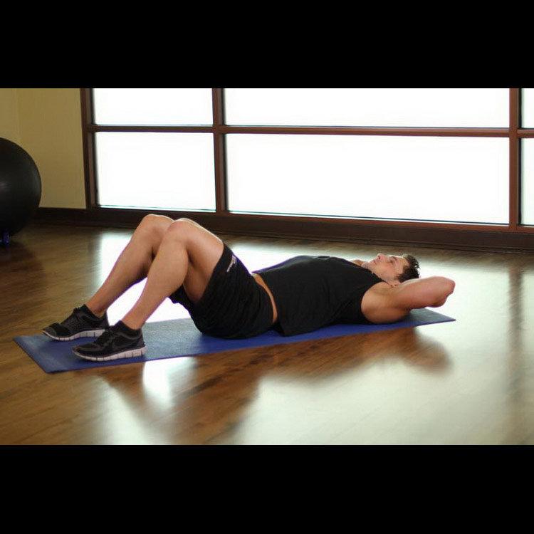 Растяжка ягодичных мышц (колено к груди)