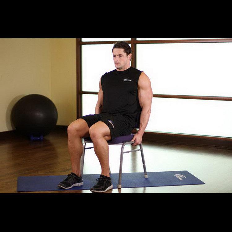Отведение вытянутой ноги в сторону сидя на стуле