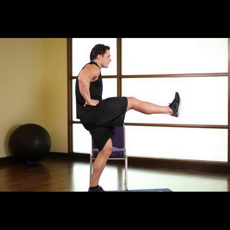 Фронтальный подъём ноги