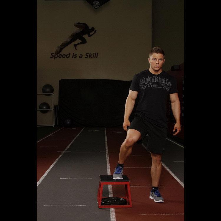 Боковые прыжки через платформу