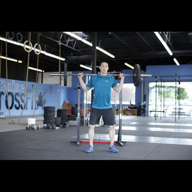 Приседания и прыжок с весом
