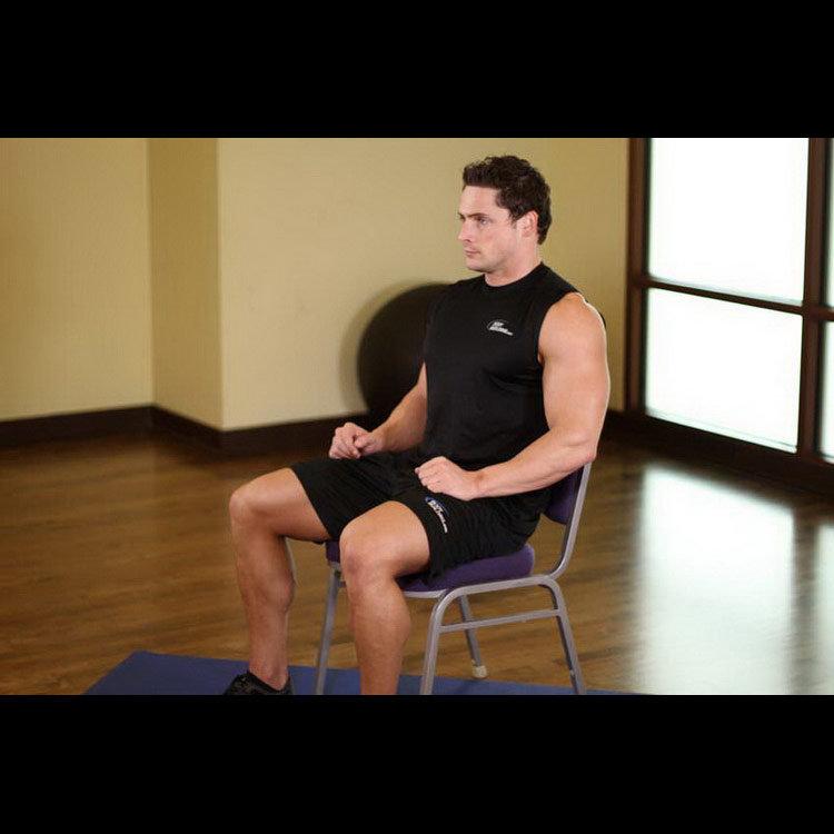 Растяжка дельт, сидя на стуле