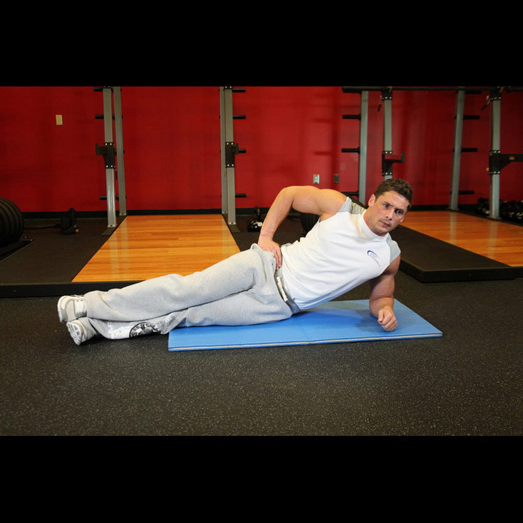 Упражнение для косых мышц живота Мост